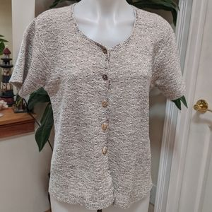 Reba Rose Short Sleeve Cardigan Size Womens Medium